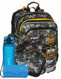 Klučičí školní batoh v setu s penálem, sáčkem army, lahvičkou a krabičkou BAGMASTER Velký SET ALFA 8 D