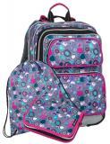 Dívčí školní batoh pro prvňáčky v setu s penálem a sáčkem BAGMASTER Malý SET GALAXY 8 A