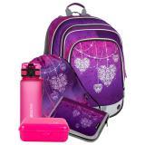 Holčičí Velký SET BAGMASTER ALFA 7 A, srdíčka, srdce, nová kolekce, design, bagmaster, batoh pro holky, růžová, pink, třpytivý,