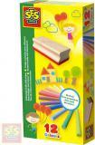 SES CREATIVE Baby křídy barevné set 12ks s houbičkou na tabuli v krabičce