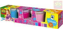 SES CREATIVE Barvy dětské prstové Trendy set 4x150ml holčičí v kelímku