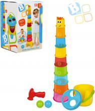 B-KIDS Baby maxi kelímky stohovací žirafa set s kladívkem a míčky