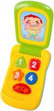 Baby mobil 14cm barevný vyklápěcí telefon pro miminko na baterie Světlo Zvuk