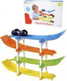 Baby autodráha set s překlápěcím autíčkem pro miminko plast v krabici