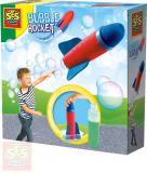 SES CREATIVE Raketa soft pěnová házecí bublinová set s roztokem 200ml