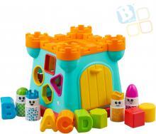 B-KIDS Baby hrad vkládací s aktivitami a 4 figurkami pro miminko