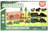 Jasperland Farma set s vozidly a zvířátky 90 dílků STAVEBNICE