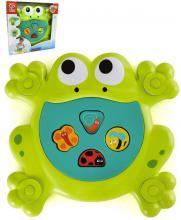 HAPE Baby Nakrm žabáka set zvířátko s vkládacími tvary do vany pro miminko
