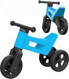 Dětské odrážedlo Funny Wheels 2v1 odstrkovadlo tříkolka / 2 kola modré plast