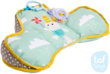 TAF TOYS Baby polštářek pro hru na bříšku s kousátkem a chrastítkem pro miminko