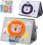 TAF TOYS Baby knížka textilní pro hru na bříšku zvířátka Savana pro miminko