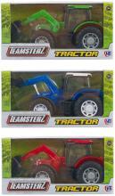 Teamsterz traktor s čelním nakladačem 3 barvy v krabičce