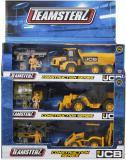 Teamsterz konstrukční set stavební auto s figurkou a doplňky v krabici 3 druhy