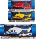 Teamsterz záchranáři set kovový helikoptéra + zásahové vozidlo 3 druhy