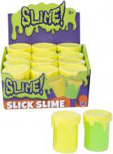 Sliz Slime zábavný hebký v plastovém kelímku 2 barvy