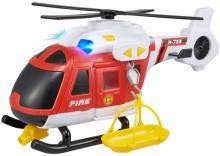 Teamsterz helikoptéra hasičská 39cm set s nosítky na baterie Světlo Zvuk