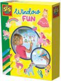 SES CREATIVE Kreativní set nálepky okenní dekorace princezny + 4 fixy na sklo