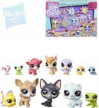 HASBRO LPS Zvířátka Littlest Pet Shop velké balení set 12ks různé druhy v krabici