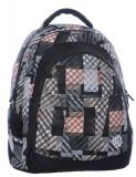 Studentský batoh DIGITAL 0215 C BLACK/BROWN/WHITE - Doprava zdarma, Výprodej