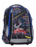Klučičí školní batoh SCHOOL 0115 B BLACK/BLUE/CAR - Doprava zdarma, Výprodej