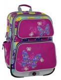 Dívčí školní batoh pro prvňáčky Bagmaster GALAXY 6 B PINK/BLUE/YELLOW - Výprodej