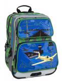 Školní batoh pro prvňáčka Bagmaster GALAXY 6 C BLUE/GREEN/YELLOW - Výprodej