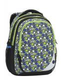 Školní batoh Bagmaster MAXVELL 6 B GREY/GREEN/BLUE - Doprava zdarma, Výprodej