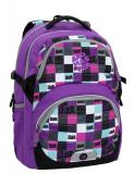 Dívčí dvoukomorový prostorný batoh od třetí třídy Bagmaster THEORY 6 A VIOLET