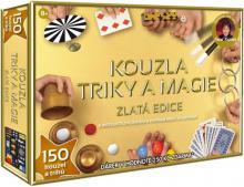 Sada Kouzla, triky, magie zlatá edice 150 kouzel a triků v krabici dárek Zdarma