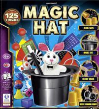 Škola kouzel Magický klobouk sada kouzel a 125 triků s doplňky v krabici
