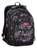Dívčí studentský batoh Bagmaster ENERGY 7 E BLACK/PINK
