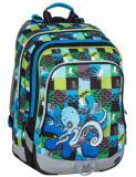 Klučičí školní batoh pro prvňáčky Bagmaster ALFA 7 C BLUE/GREEN