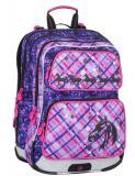 Dívčí školní batoh pro prvňáčky Bagmaster GALAXY 7 B VIOLET/PINK