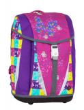 Dívčí školní batohy s motýlky Bagmaster POLO 7 A PINK/VIOLET