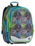 Školní batoh čtyřkomorový Bagmaster ELEMENT 7 B GREY/BLUE/GREEN