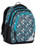 Klučičí školní batohy Bagmaster MAXVELL 7 B BLUE/GREY/BLACK