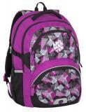 Dívčí školní batohy od třetí třídy Bagmaster THEORY 7 A PINK/GREY/BLACK
