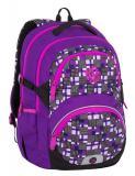 Dívčí školní batoh pro třeťáky Bagmaster THEORY 7 C VIOLET/PINK