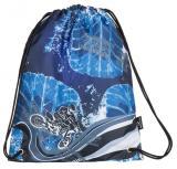 Klučičí školní sáček na přezůvky motokros Bagmaster SHOES LIM 7 C BLACK/BLUE/GREY