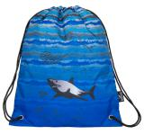 Klučičí školní pytlík se žralokem Bagmaster SHOES MERCURY 7 B BLUE/BLACK/GREY