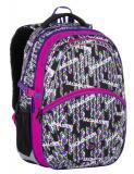 Dívčí školní batoh Bagmaster MADISON 7 B BLACK/PINK/VIOLET