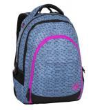 Dívčí studentský batoh se skrytou kapsou na zádech BAGMASTER DIGITAL 8 A BLUE/PINK/BLACK