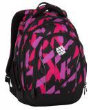 Dívčí studentský batoh BAGMASTER SUPERNOVA 8 B BLACK/PINK/VIOLET