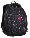 Dívčí studentský batoh BAGMASTER SUPERNOVA 8 C BLACK/GRAY/PINK