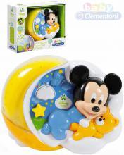 CLEMENTONI Baby projektor Mickey Mouse kouzelné hvězdy s melodiemi na baterie Zvuk