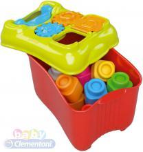 CLEMENTONI CLEMMY Baby set kyblík s vkládacími tvary stavebnice
