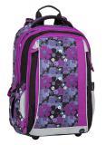 Dívčí školní batoh pro prvňáčka BAGMASTER MERCURY 8 A BLACK/PINK/VIOLET