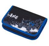 Klučičí školní jednocholpňový penál s motivem truck BAGMASTER CASE GALAXY 8 C BLACK/BLUE/WHITE
