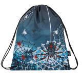 Klučičí školní sáček na přezůvky pavok BAGMASTER SHOES GALAXY 8 B BLACK/BLUE/RED