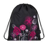 Dívčí školní sáček na přezůvky BAGMASTER SHOES LIM 8 A BLACK/PINK/WHITE